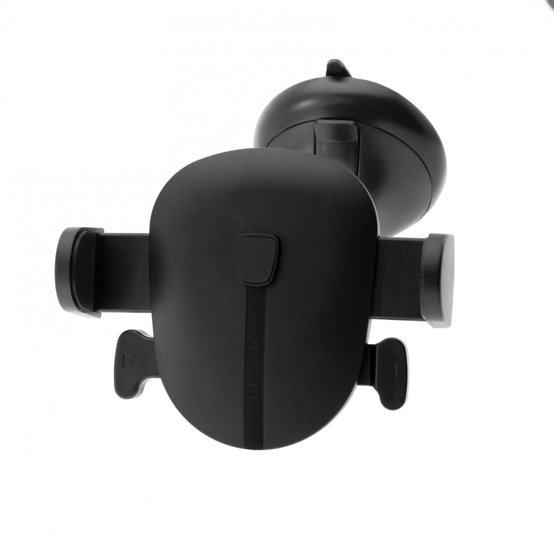 Univerzální držák FIXED Click s přísavkou na sklo nebo palubní desku, černá