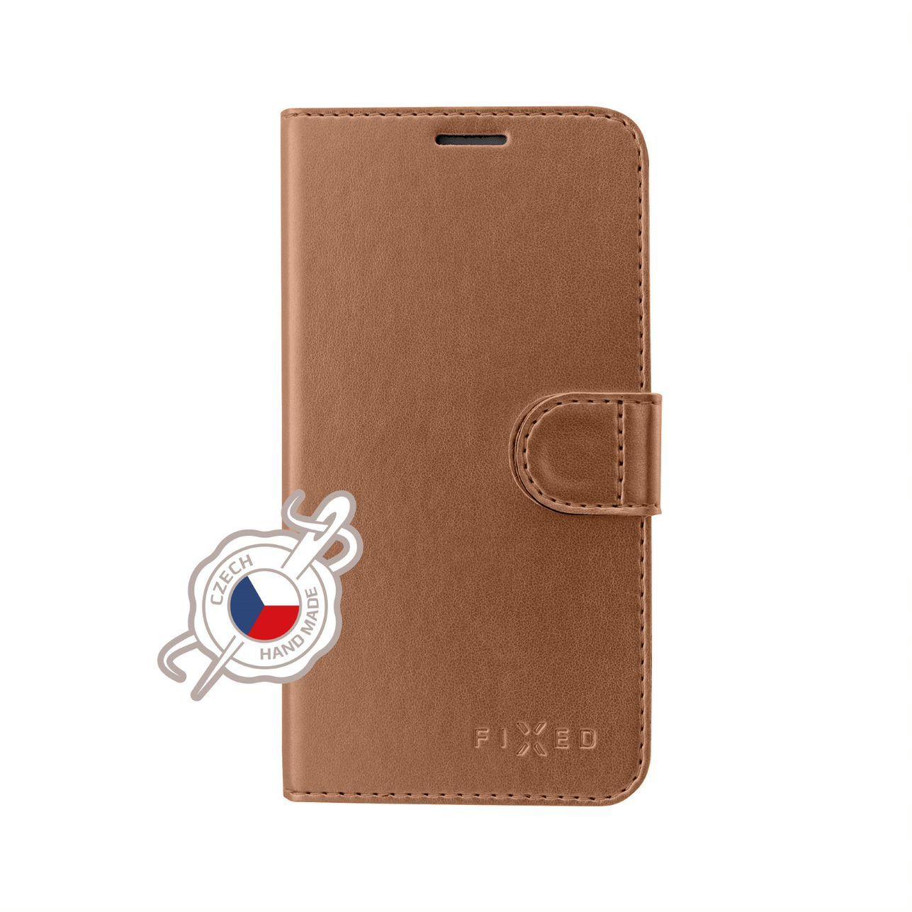 FIXED FIT SHINE flipové pouzdro pro Samsung Galaxy Note 10, bronzové