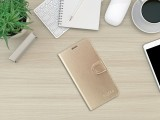 FIXED FIT SHINE flipové pouzdro pro Samsung Galaxy Note 10, zlaté