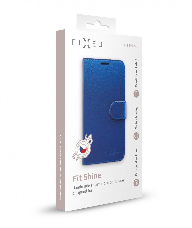 FIXED FIT SHINE flipové pouzdro pro Samsung Galaxy Note 10, modré