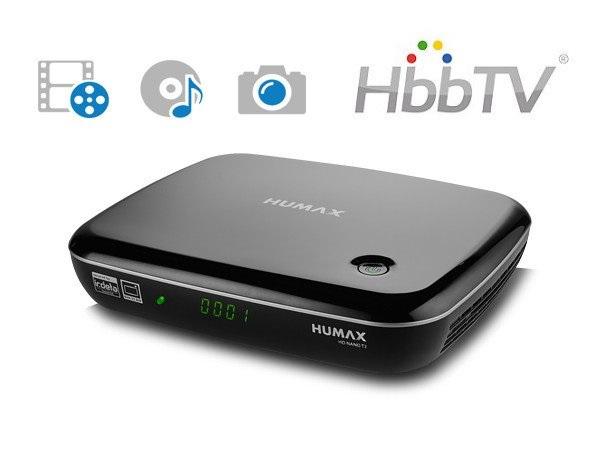 Humax NANO T2 DVB-T2 přijímač, HEVC, HbbTV
