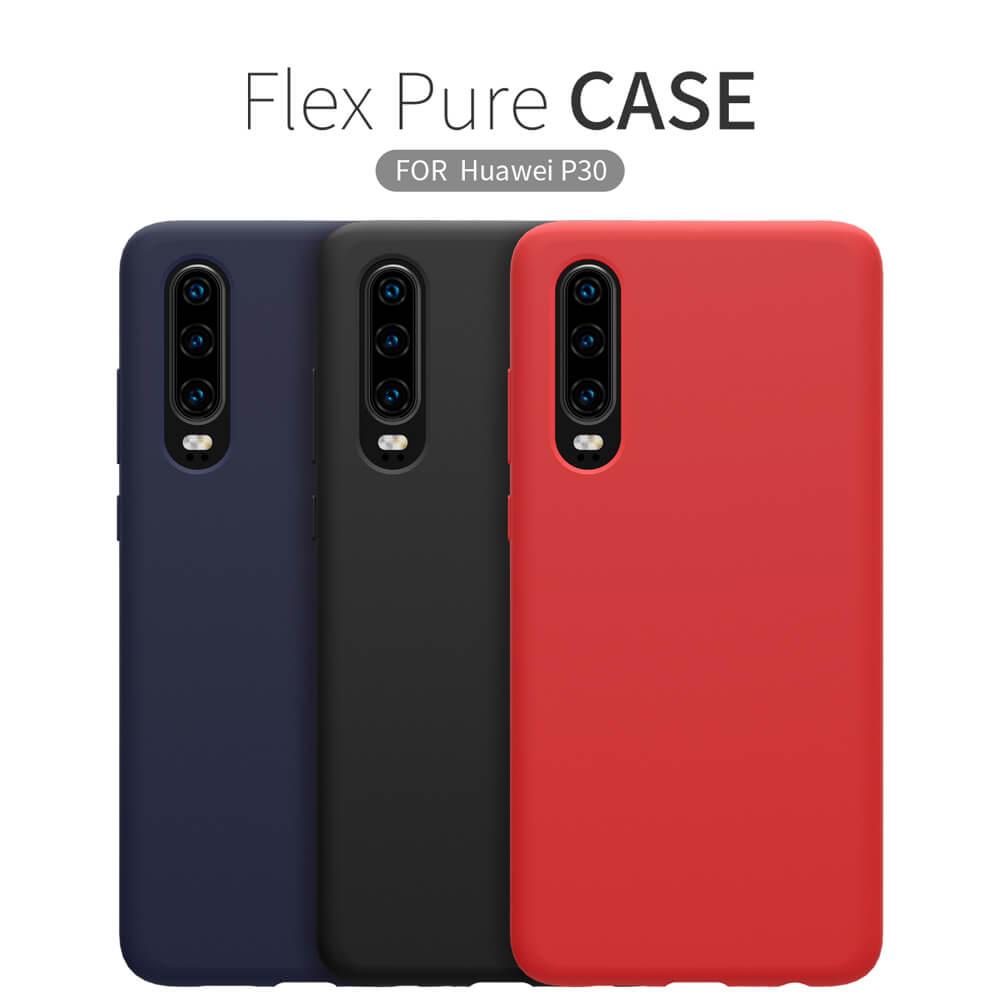 Silikonové pouzdro Nillkin Flex Pure Liquid pro Huawei P30, red