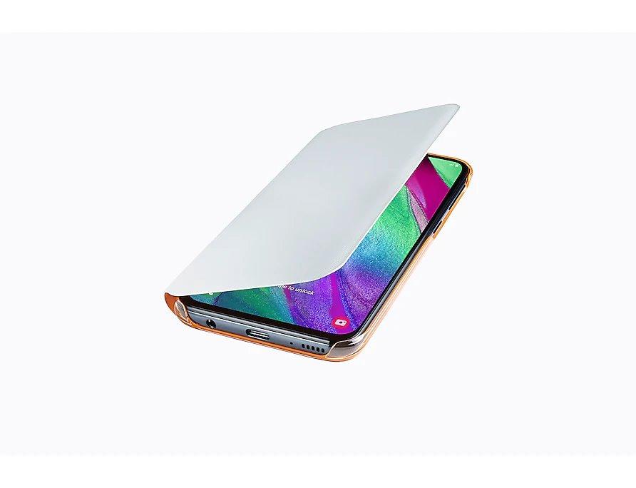 Flipové pouzdro Samsung Wallet pro Samsung Galaxy A40, white