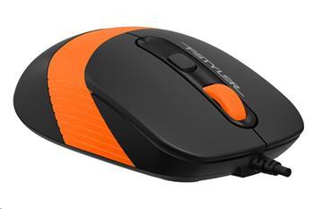 Optická myš A4tech FM10 FSTYLER, USB, oranžová