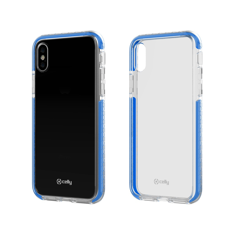 Zadní kryt CELLY Hexagon pro Apple iPhone X/XS, modrá