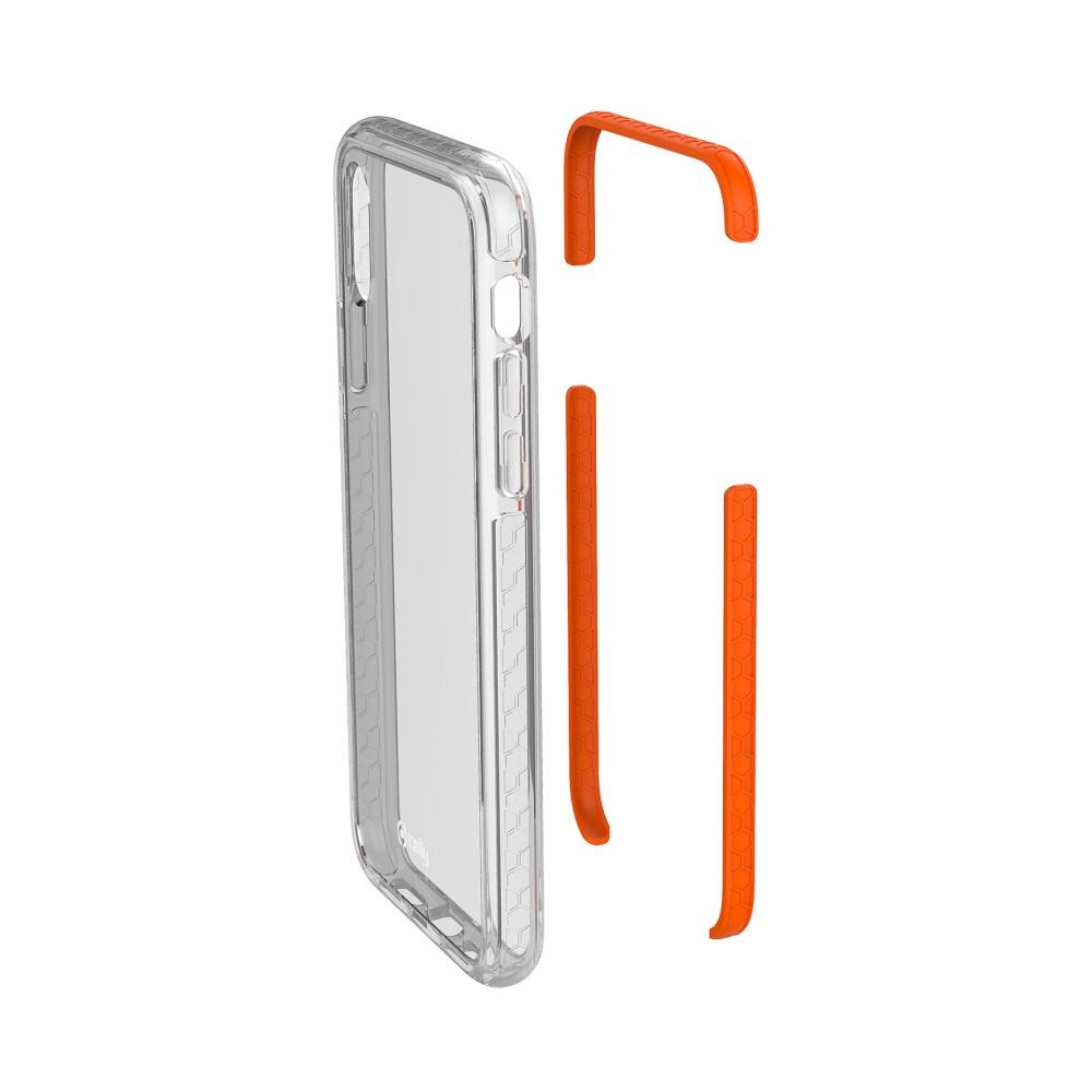 Zadní kryt CELLY Hexagon pro Apple iPhone X/XS, oranžový