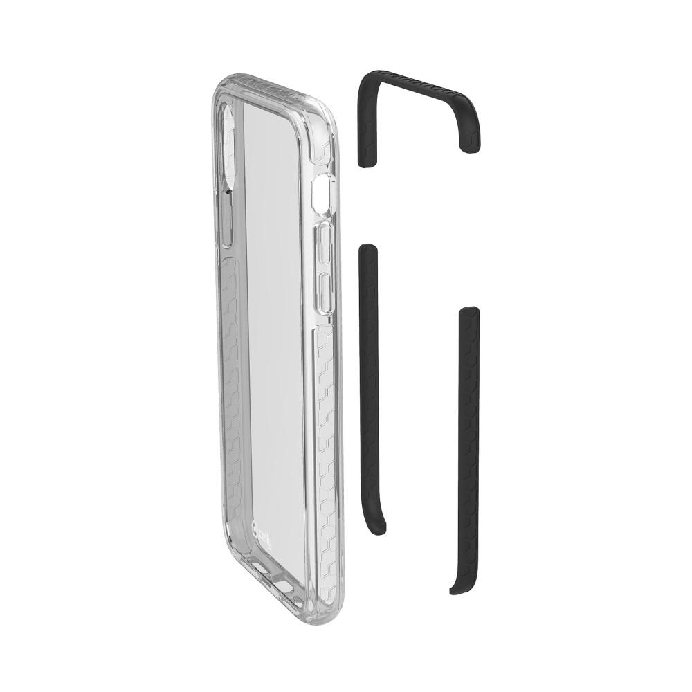 Zadní kryt CELLY Hexagon pro Apple iPhone X/XS, černý