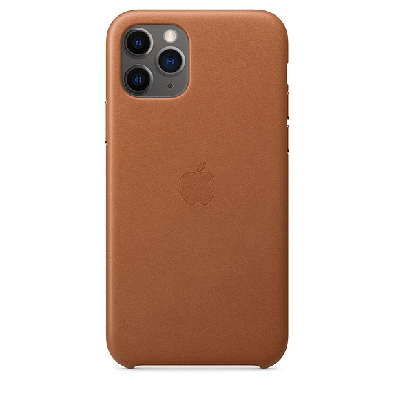 Kožené pouzdro Leather Case pro Apple iPhone 11 Pro, saddle brown