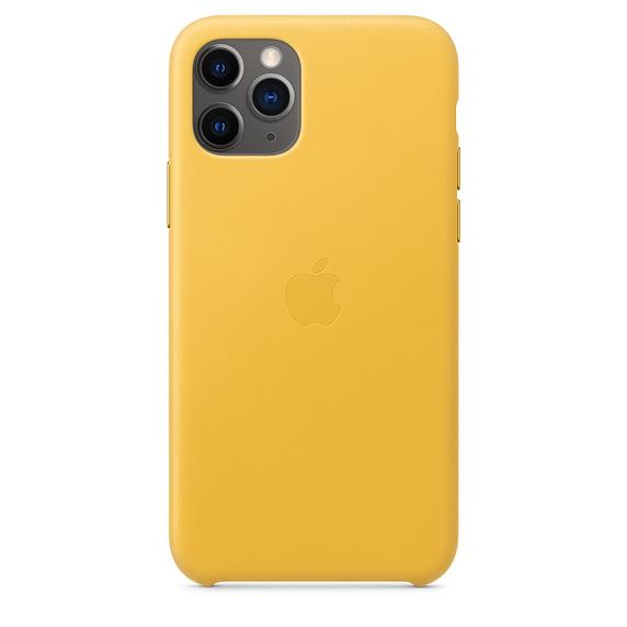 Kožené pouzdro Leather Case pro Apple iPhone 11 Pro, meyer lemon