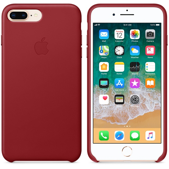 Kožené pouzdro Leather Case pro Apple iPhone 8 Plus/7 Plus, red