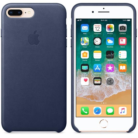 Kožené pouzdro Leather Case pro Apple iPhone 8 Plus / 7 Plus, midnight blue
