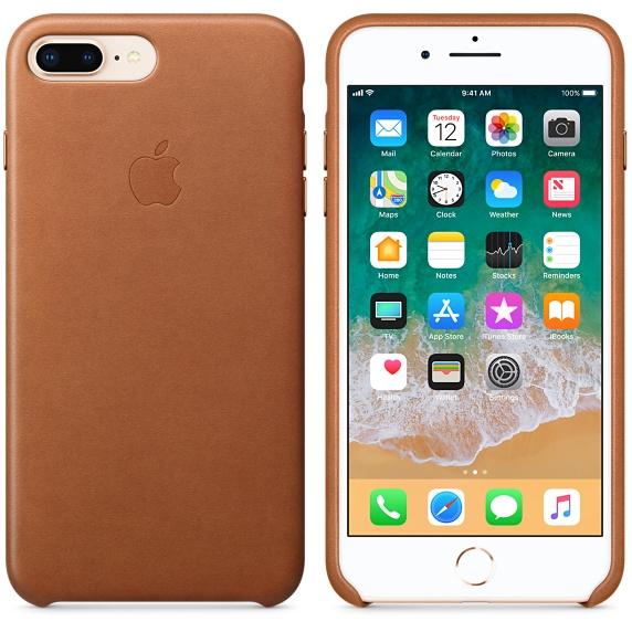Kožené pouzdro Leather Case pro Apple iPhone 8 Plus / 7 Plus, saddle brown