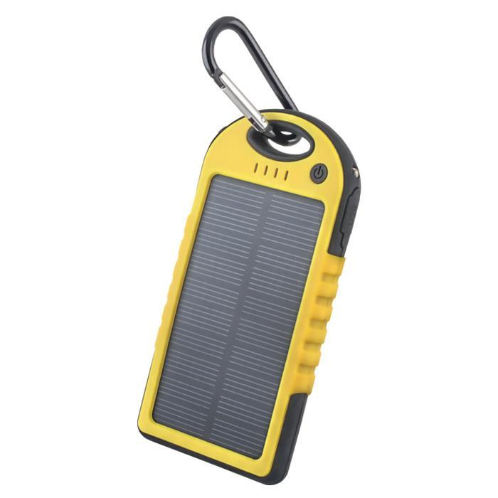 Solární power banka 5000 mAh Forever STB-200 žlutá