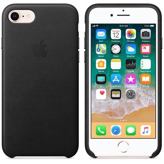 Kožené pouzdro Leather Case pro Apple iPhone 8/7, black