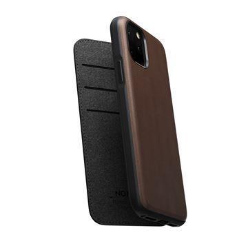 Flipové pouzdro Nomad Folio Leather case pro Apple iPhone 11, hnědá