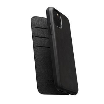 Flipové pouzdro Nomad Folio Leather case pro Apple iPhone 11, černá