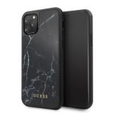 Guess Marble Zadní kryt GUHCN65HYMABK pro Apple iPhone 11 Pro Max black