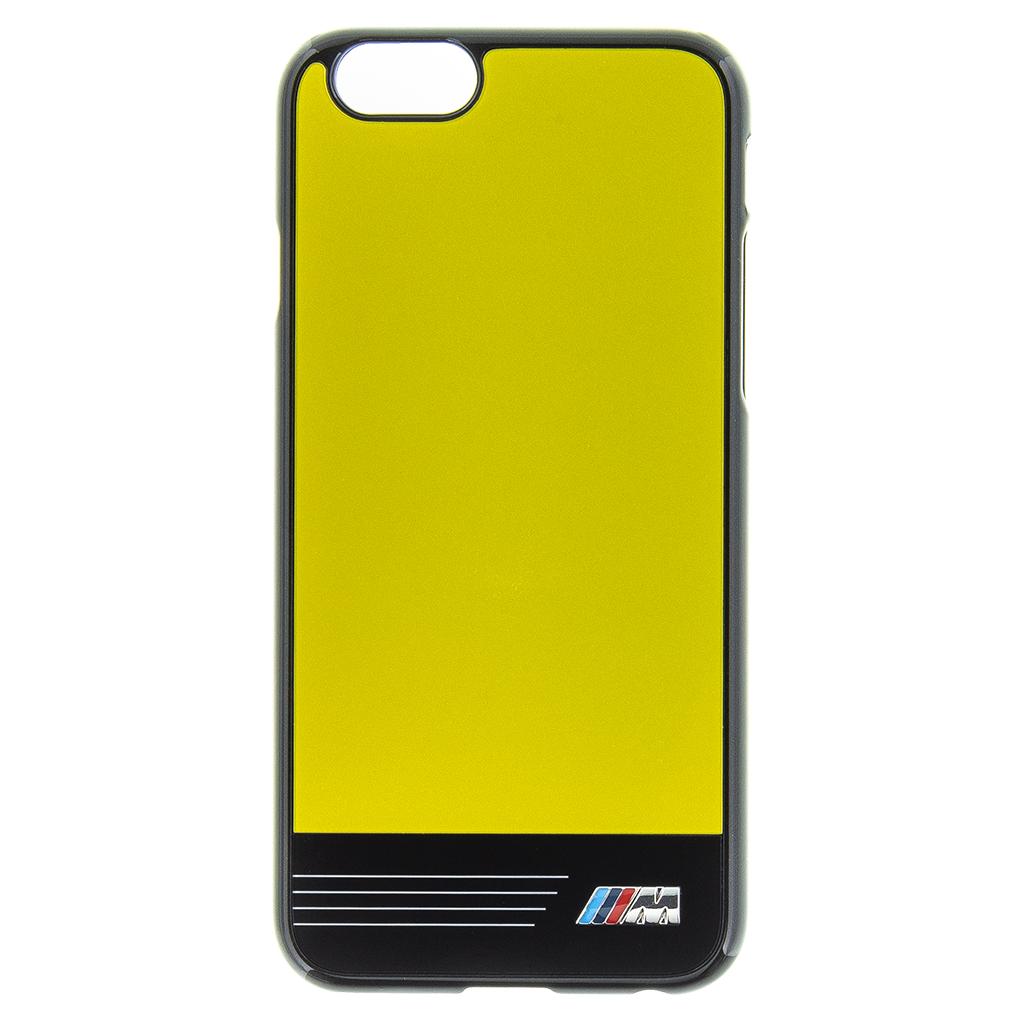 BMW M Zadní kryt Stripes BMHCP6GPYE pro Apple iPhone 6/6S yellow