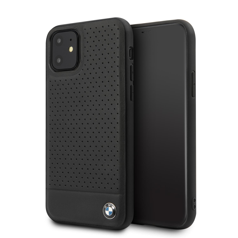 BMW Kožený kryt BMHCN61PEBOBK pro Apple iPhone 11 black