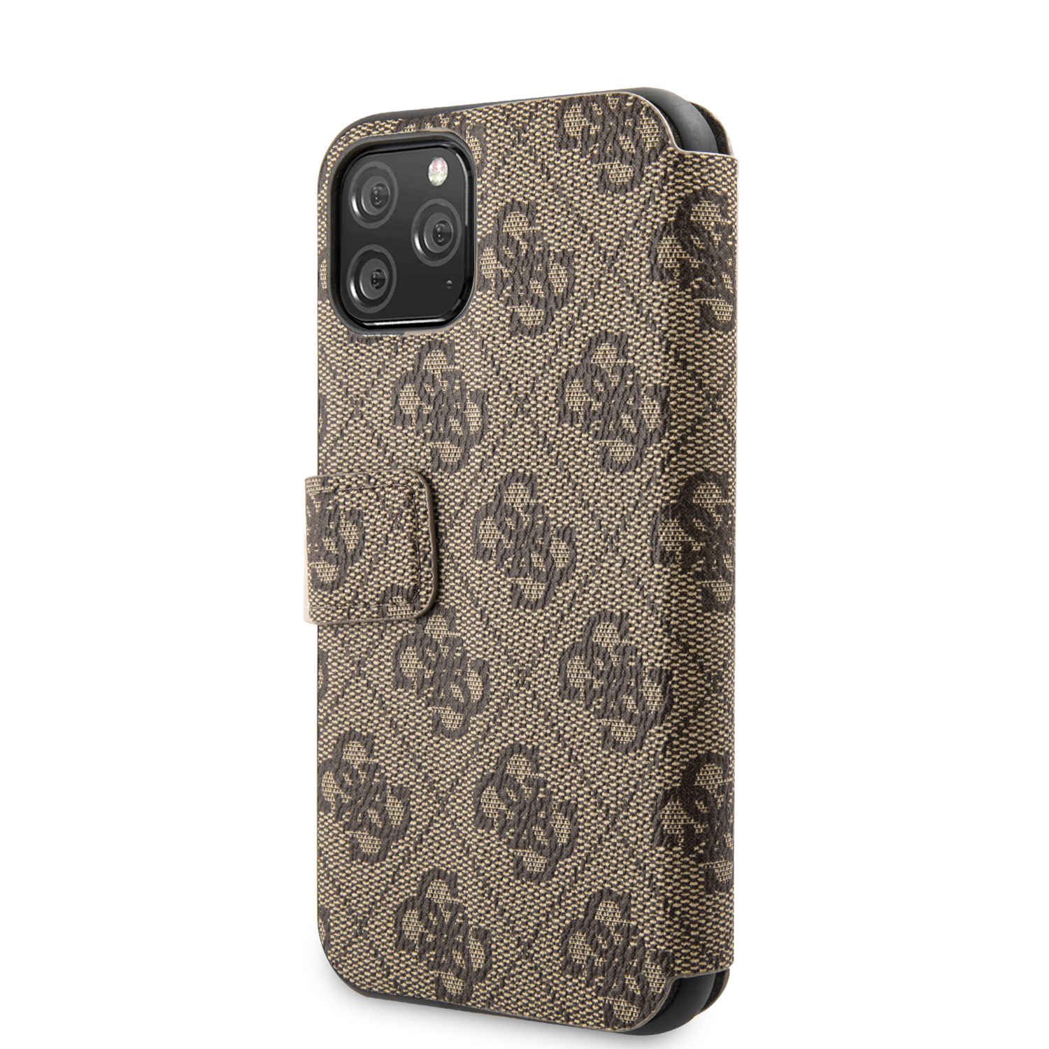 Guess Charms 4G pouzdro flip pro Apple iPhone 11 brown