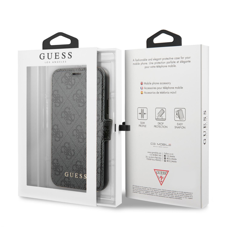 Guess Charms 4G pouzdro flip pro Apple iPhone 11 grey