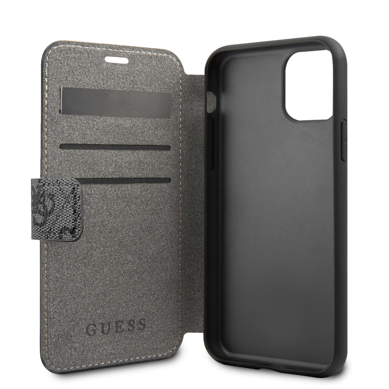 Guess Charms 4G pouzdro flip pro Apple iPhone 11 Pro Max grey