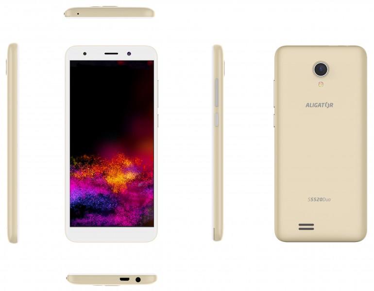 Aligator S5520 Duo 16GB zlatý