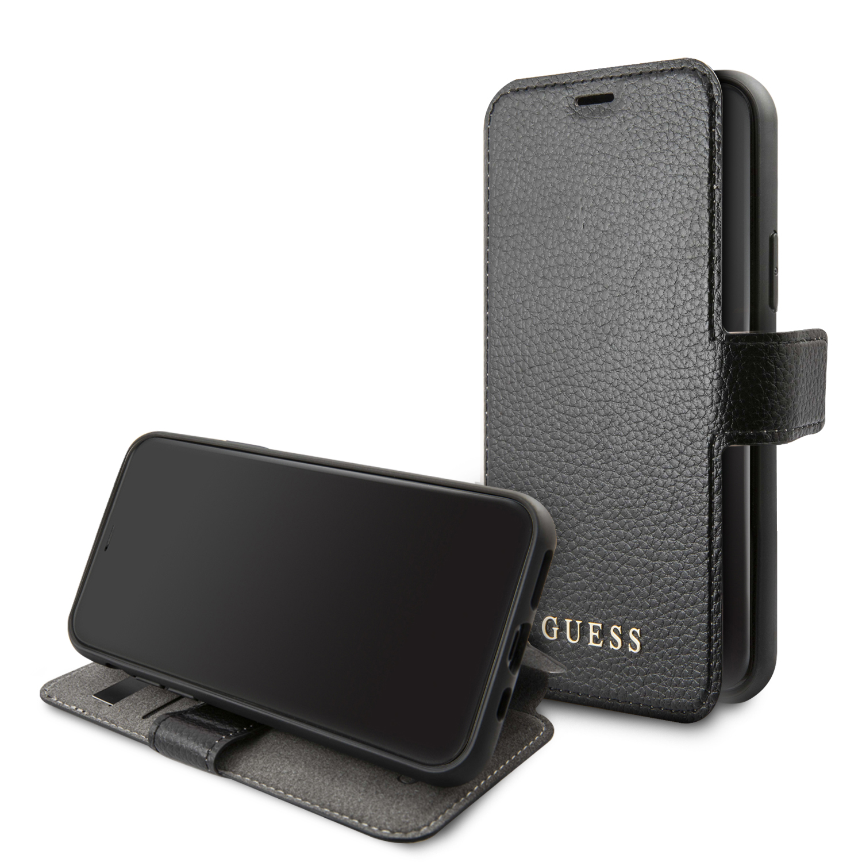Guess Iridescent pouzdro flip GUFLBKSN61IGLBK na Apple iPhone 11 black