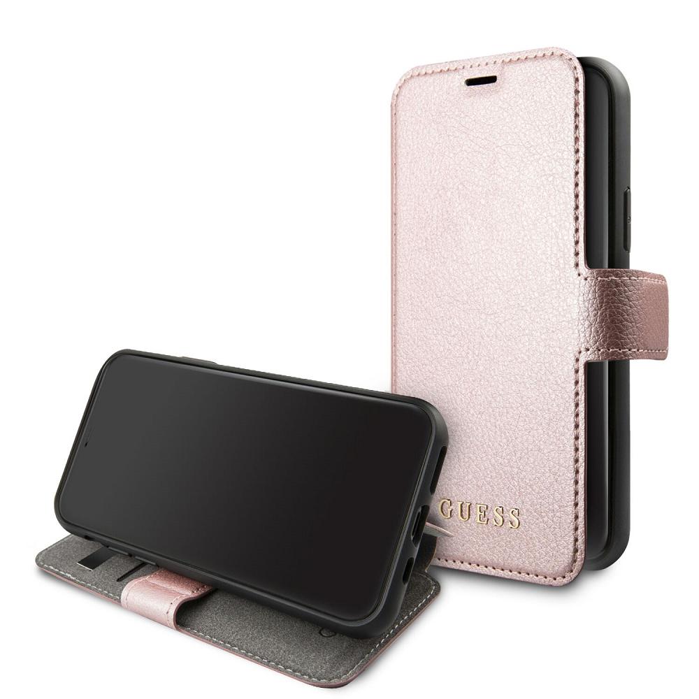 Guess Iridescent pouzdro flip GUFLBKSN65IGLRG na Apple iPhone 11 Pro Max black/roseo pro iPhone 11 Pro Max Black/Rose (EU Blister)