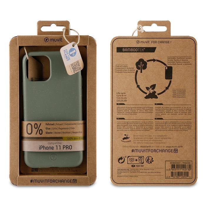 Zadní kryt Bambootek Muvit For Change ECO pro Apple iPhone 11 Pro, Moss