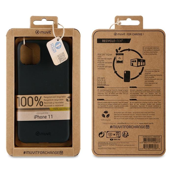 Zadní kryt Muvit For Change Recycletek ECO pro Apple iPhone 11, black