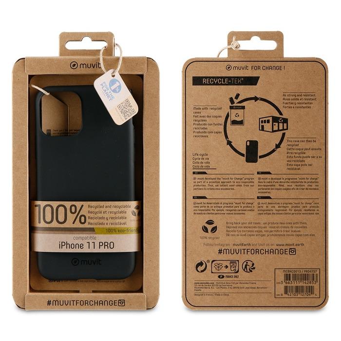 Zadní kryt Muvit For Change Recycletek ECO pro Apple iPhone 11 Pro, black
