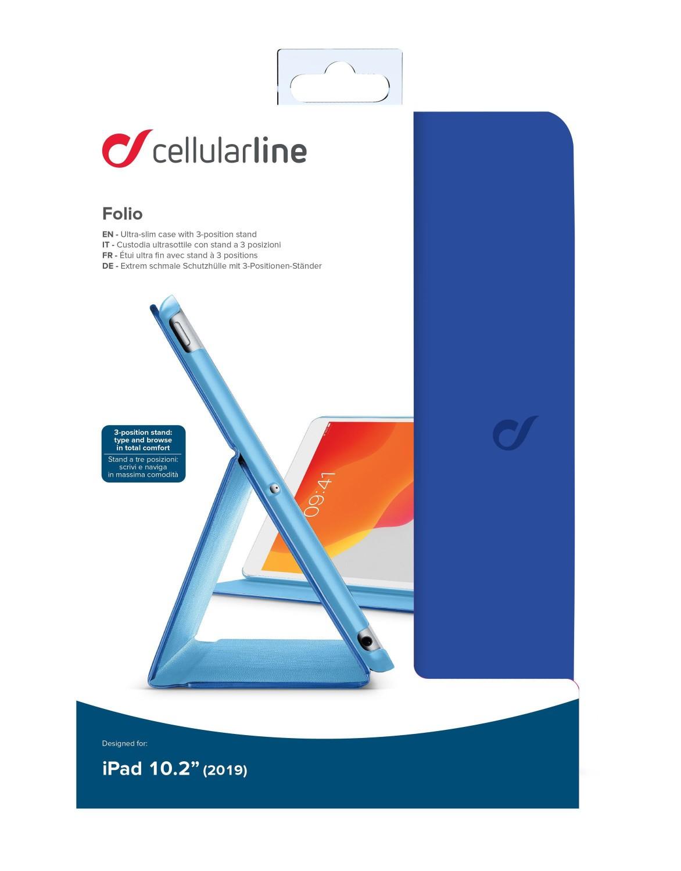 """CellularLine FOLIO pouzdro flip pro Apple iPad 10.2"""" 2019, modré"""