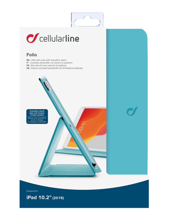 "CellularLine FOLIO pouzdro flip pro Apple iPad 10.2"" 2019, tyrkysové CellularLine FOLIO pro Apple iPad 10,2"" (2019), tyrkysové"