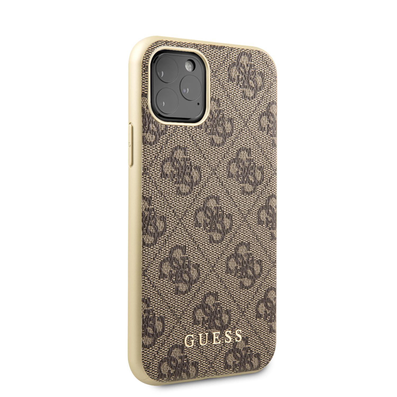 Guess 4G Zadní kryt GUHCN58G4GB pro Apple iPhone 11 Pro brown