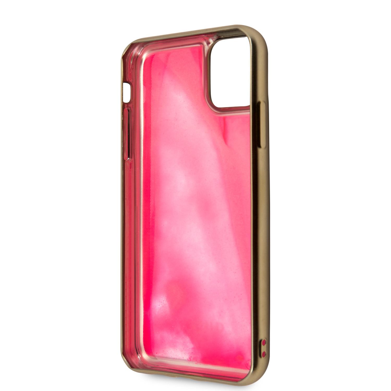 Guess Glow in The Dark GUHCN58GLTRPI Zadní kryt pro Apple iPhone 11 Pro pink