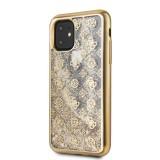 Guess 4G Peony Glitter GUHCN58PEOLGG Zadní kryt pro Apple iPhone 11 Pro gold