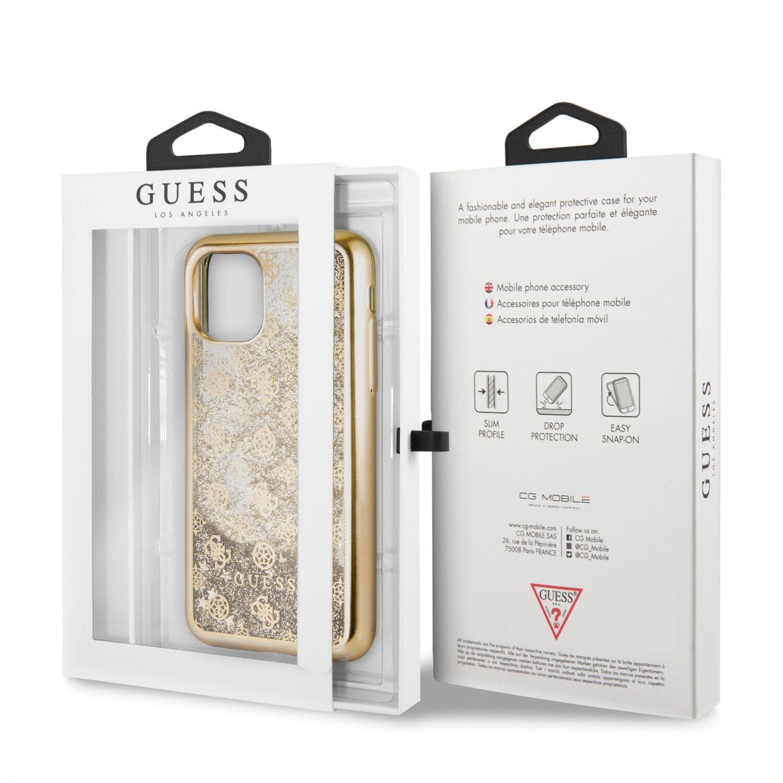 Guess 4G Peony Glitter GUHCN61PEOLGG Zadní kryt pro Apple iPhone 11 gold