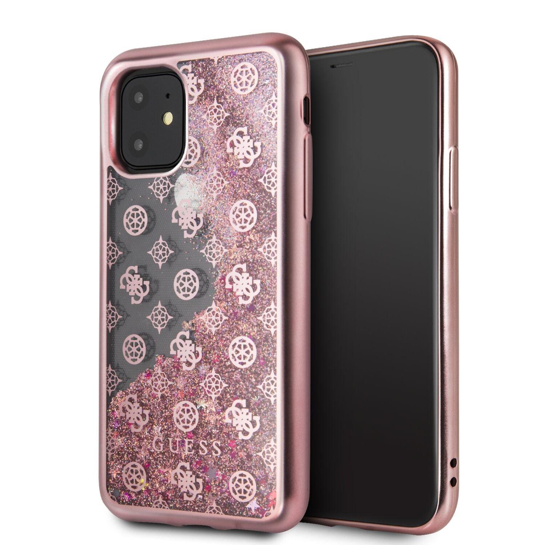 Guess 4G Peony Glitter GUHCN61PEOLGP Zadní kryt pro Apple iPhone 11 rose