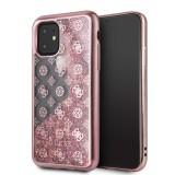 Guess 4G Peony Glitter GUHCN65PEOLGP Zadní kryt pro Apple iPhone 11 Pro Max rose