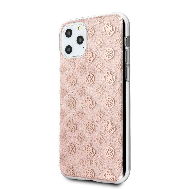 Guess 4G Peony Glitter  Zadní kryt pro Apple iPhone 11 Pro Peony Glitter Zadní Kryt pro iPhone 11 Pro Pink (EU Blister)