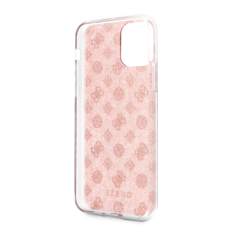 Guess 4G Peony Glitter GUHCN61TPERG Zadní kryt pro Apple iPhone 11 pink