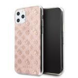 Guess 4G Peony Glitter GUHCN65TPERG Zadní kryt pro Apple iPhone 11 Pro Max pink