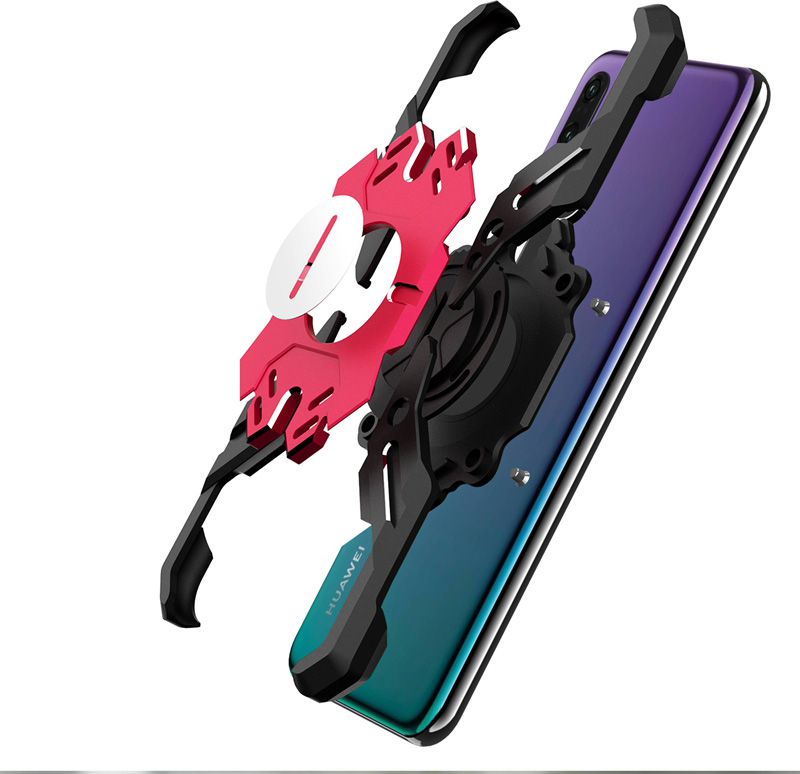 Zadní kryt Luphie Heroes Rotation Aluminium Bumper pro Huawei P20 Pro, blue/red