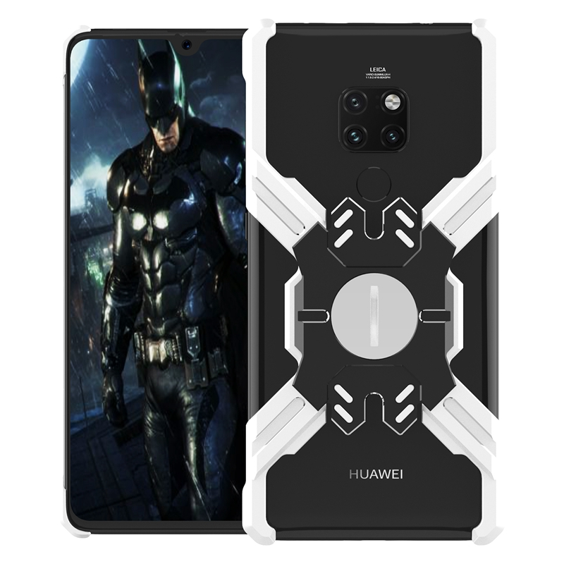 Zadní kryt Luphie Heroes Rotation Aluminium Bumper pro Huawei Mate 20 Pro, silver/black