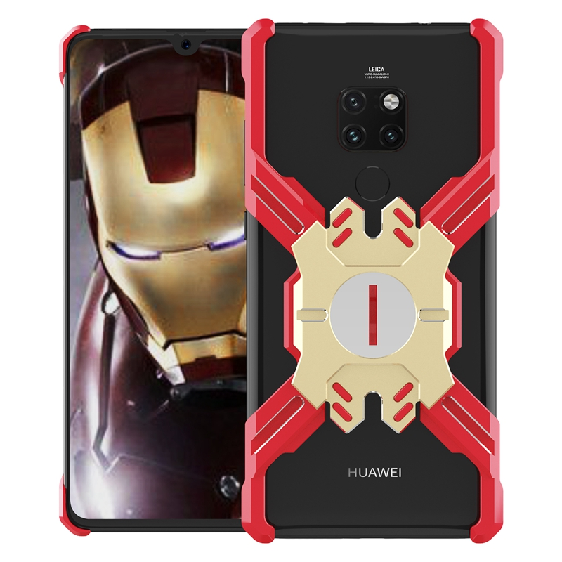 Zadní kryt Luphie Heroes Rotation Aluminium Bumper pro Huawei Mate 20 Pro, red/gold