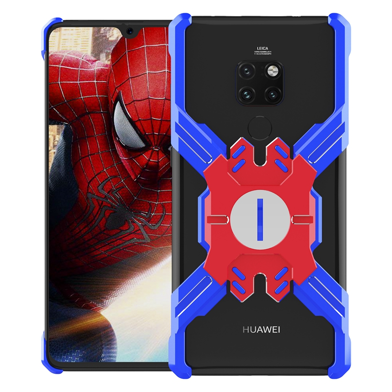 Zadní kryt Luphie Heroes Rotation Aluminium Bumper pro Huawei Mate 20 Pro, blue/red