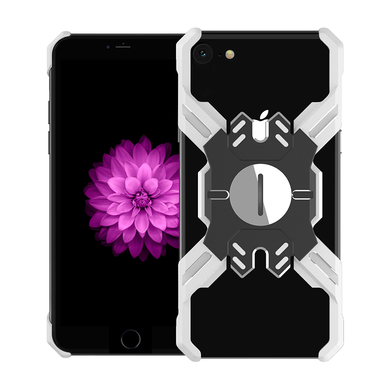 Zadní kryt Luphie Heroes Rotation Aluminium Bumper pro Apple iPhone 6/6S/7/8, silver/black