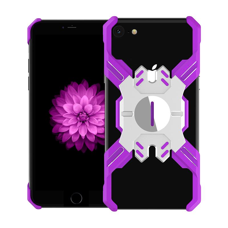 Zadní kryt Luphie Heroes Rotation Aluminium Bumper pro Apple iPhone XR, purple/silver
