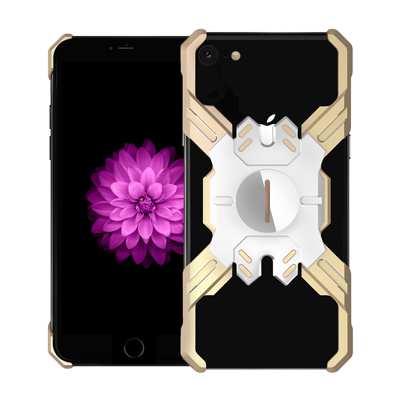 Zadní kryt Luphie Heroes Rotation Aluminium Bumper pro Apple iPhone XR, gold/silver